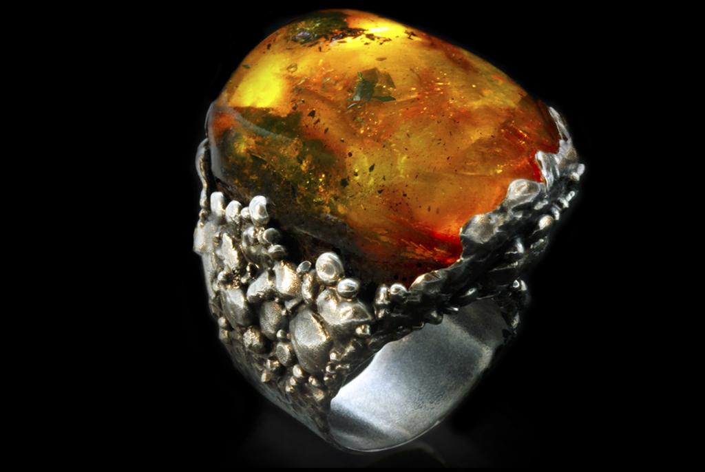 кольцо, украшение, янтарь